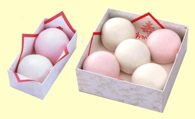 h5紅白薯蕷饅頭2種