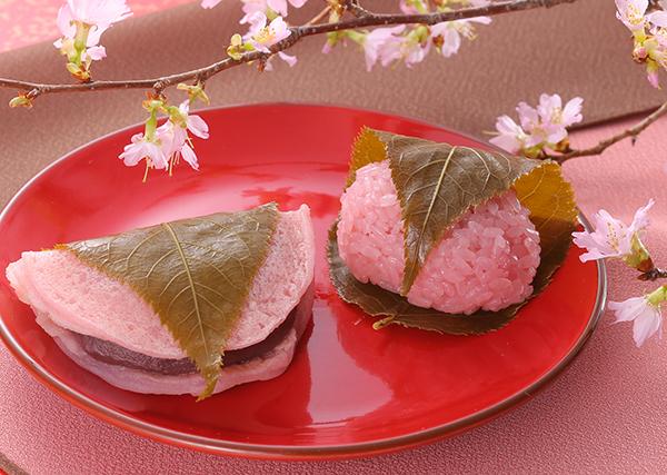 桜もち桜道明寺