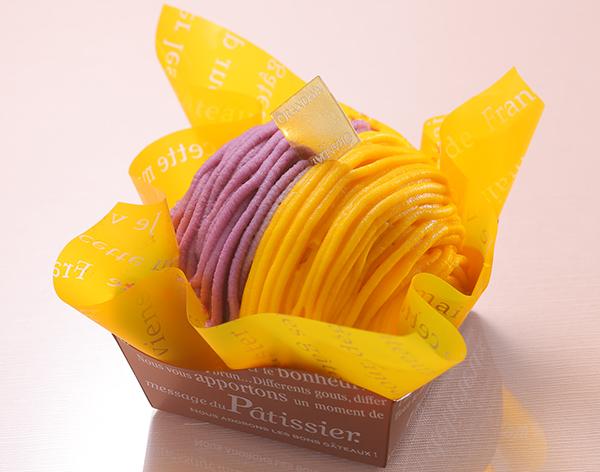 紫芋とかぼちゃのモンブラン